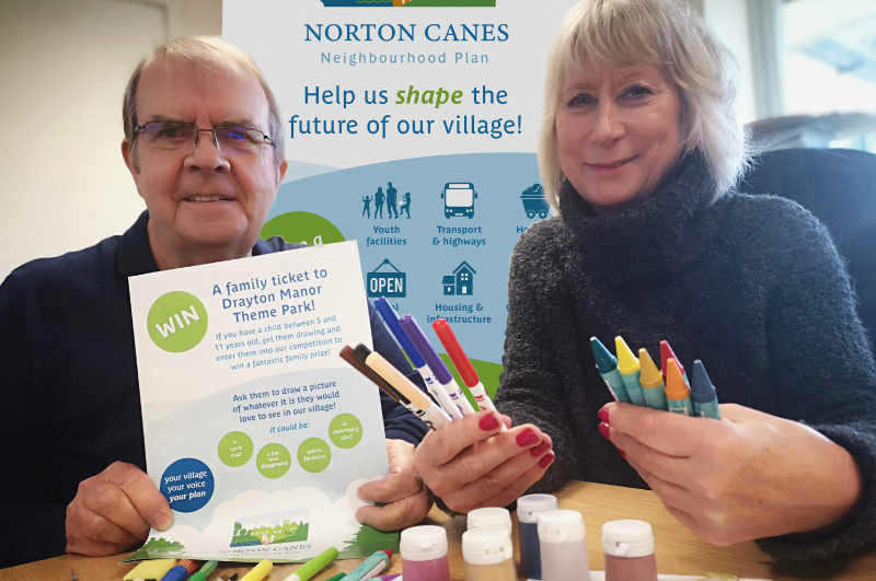 Norton Canes Neighbourhood Plan - Arty competition to draw out kids' ideas for Norton Canes